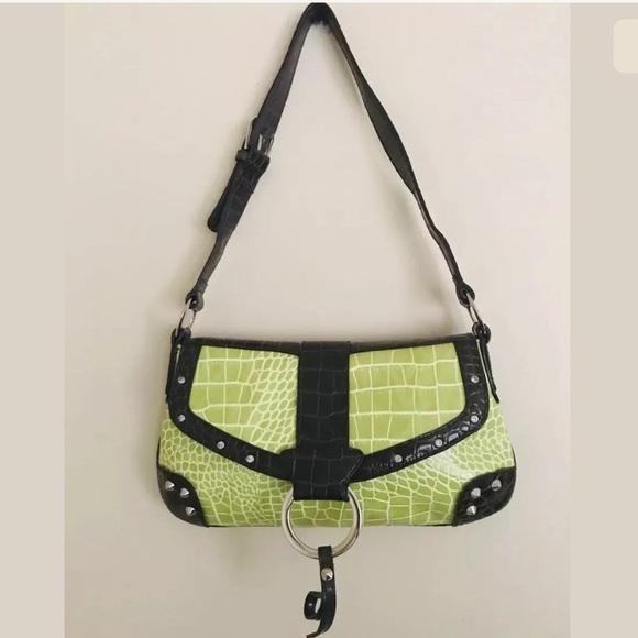 a3c8acdd Transetter Purse Bright Green Baguette Bag NWT